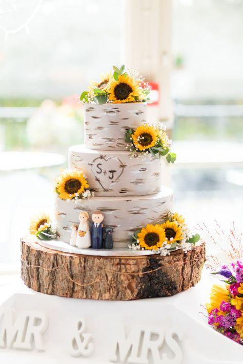 Rustic wedding cake sunflowers – Creative Summer Wedding Tips Country Wedding Cakes, Summer Wedding Cakes, Country Wedding Decorations, Floral Wedding Cakes, Country Wedding Invitations, Wedding Cake Rustic, Wedding Cake Designs, Wedding Flowers, Country Weddings