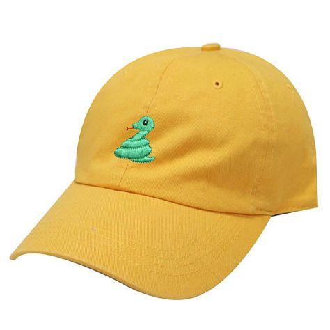 ae7acd1cdd2 Capsule Design Cute Snake Cotton Dad Baseball Cap Mango
