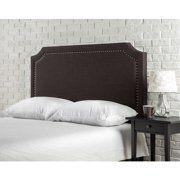 Beige Better Homes and Gardens Grayson Linen Upholstered Headboard with Nailheads Full//Queen