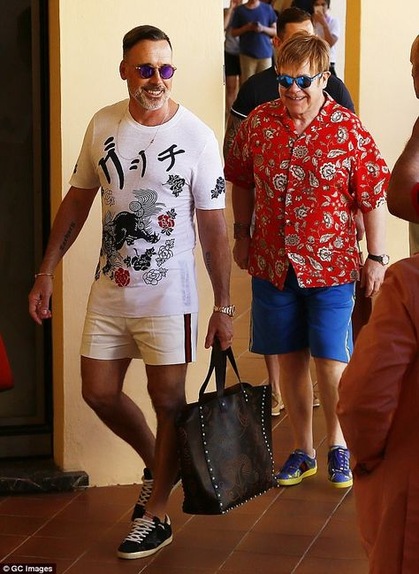 Glam outings: Elton John and David Furnish proved just why on Friday as they stepped out i...