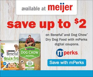 Save On Purina Dog Chow And Beneful Dog Food At Meijer With Mperks