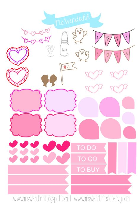 Mswenduhh planning s day print cut file planner pinterest filing planners and printing