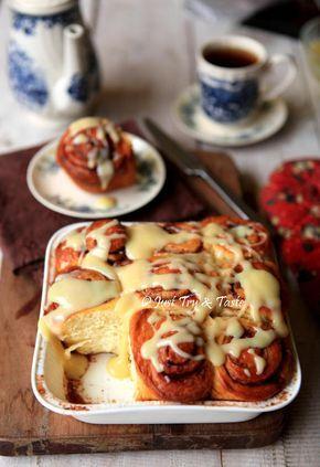 Resep Cinnamon Rolls Dengan Cream Cheese Glaze Happy New Year 2017 Roti Cinnamon Roll Makanan Manis Makanan