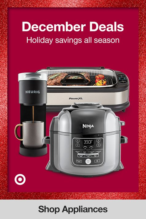 Enjoy new holiday deals all December long. Find Christmas gift ideas for the coffee bar or an Instant Pot or air fryer for your family or friend's kitchen.