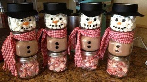 christmas gift ideas - hot chocolate snowmen