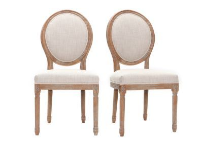 Lot De 2 Chaises Medaillon En Tissu Coloris Naturel Pieds Bois Clair Legend Chaise Design Chaise Chaise Medaillon