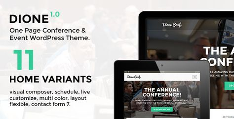 Dione – Conference & Event WordPress Theme - ThemeKeeper.com