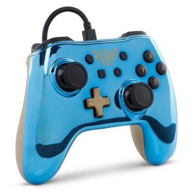 Power A The Legend Of Zelda Breath Of The Wild Wired Controller For Nintendo Switch Adriatic Blue Nintendo Nintendo Switch Legend Of Zelda Breath