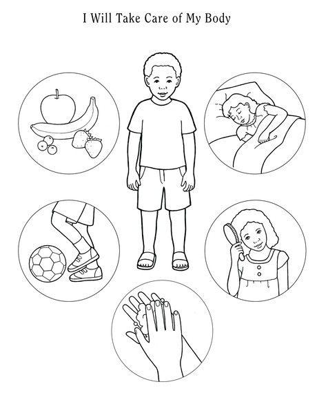 I Will Take Care Of My Body Body Preschool Healthy Habits Preschool Kindergarten Colors