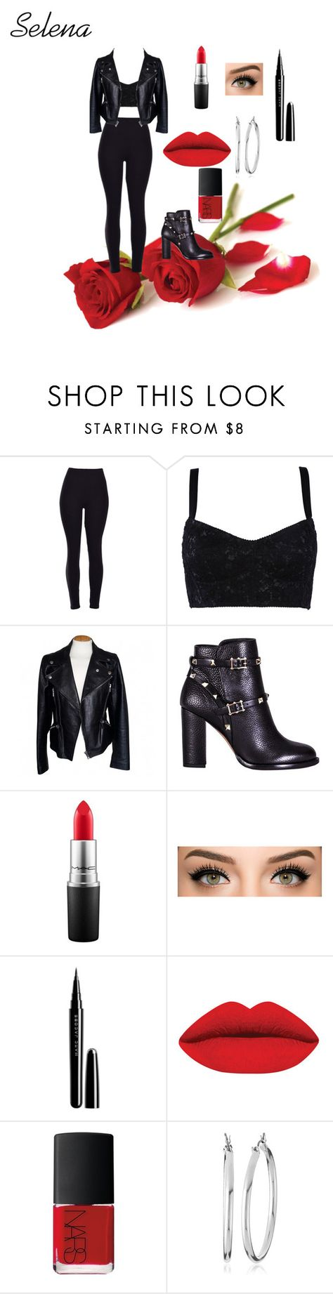 """Selena Quintanilla"" by cvaxciii ❤ liked on Polyvore featuring Dolce&Gabbana, Alexander McQueen, Valentino, MAC Cosmetics, Marc Jacobs, NARS Cosmetics, Nine West, women's clothing, women's fashion and women"