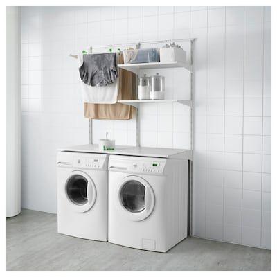 Pin By Kasia Dobosiewicz On Gospodarcze In 2020 Utility Room Designs Ikea Algot Laundry Room Storage