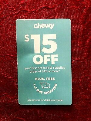 Chewy Coupon 15 Off 1st Order Of 49 Or More Exp 5 31 2020 Get It Fast Chewy Coupons How To Get