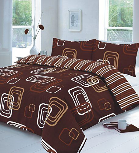 Linen Galaxy Blake Chocolate Super King Duvet Quilt Cover Https Www Amazon Co Uk Dp B01hvhzz9u Ref C Pillow Case Bed Geometric Duvet Cover Bedding Sets Uk