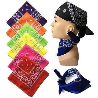 Men/'s//Women/'s Hip Hop Bandana Head Scarf Neck Scarves Paisley 100/% COTTON Square