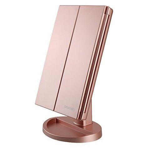 Beleuchteter Kosmetikspiegel Mit 16 Led Leuchten 180 Grad Touchscreen Mit Freier In 2020 Schminkspiegel Mit Beleuchtung Kosmetikspiegel Mit Beleuchtung Schminkspiegel
