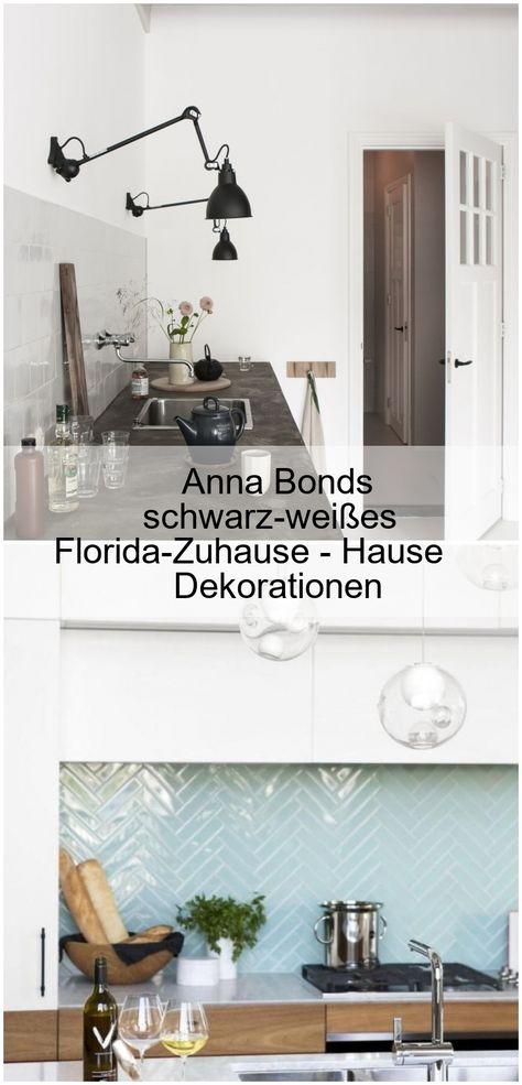 Anna Bonds Schwarz Weisses Florida Zuhause Hause Dekorationen