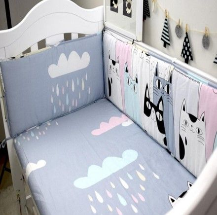 Hand Made Custom Cartoon Cats Cotton Baby Bedding Sets Bryter