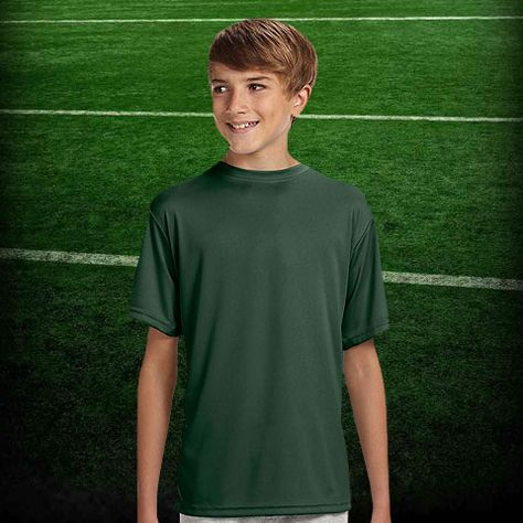A4 Youth Short Sleeve Cooling Performance Crew Nb3142 With Images