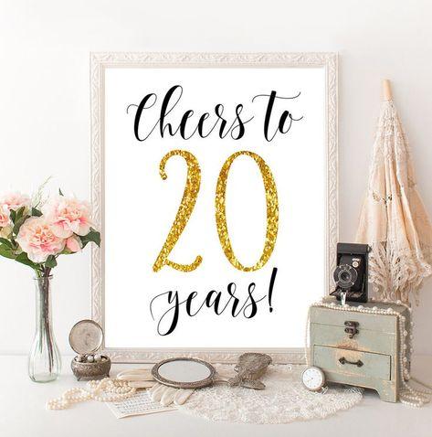 Prost Auf 20 Jahre 20 Geburtstag 20 Jahrestag 20 Hochzeitstag