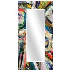 Oversized Rectangle Multi Colored Beveled Glass Modern Mirror 72 In H X 36 In W Tam 136463 7236 The Home Depot In 2021 Art Deco Mirror Beveled Mirror Modern Mirror