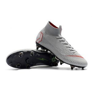 Nike Mercurial Superfly Vi Elite Sg Pro Ac Wolf Grey Light Crimson Pure Platinum Soccer Boots Superfly Soccer Shoes
