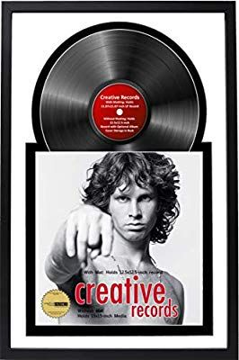 Record Album Frame for 12 Lp Vinyl Album and Album Sleeve Black Frame /& White Matting Design