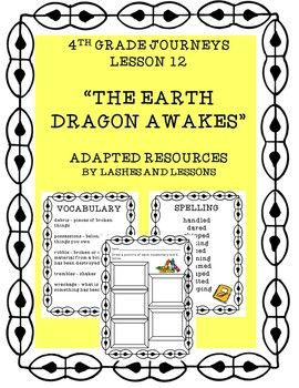 Lesson 12 4th Grade Journeys The Earth Dragon Awakes Adapted