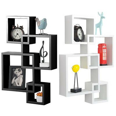 Details About 3 4 In 1 Floating Shelf Wall Mounted Intersecting