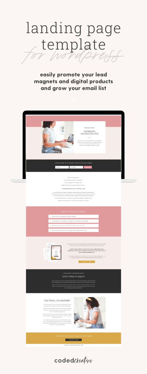 Landing Page Template for WordPress