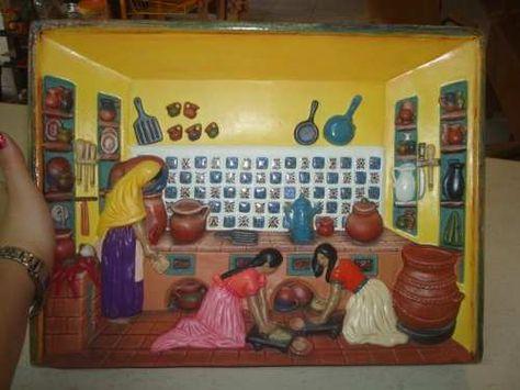 Cocina  mexicana de cerámica