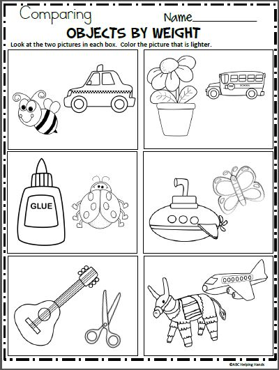 Worksheets Compare That In 2020 Kindergarten Science Science Worksheets Kindergarten Worksheets