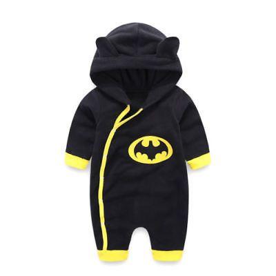 رخيصة 0 24 متر الوليد طفل بنين الشتاء باتمان مقنع رومبير بذلة الملابس الدافئة القطن وتتسابق يبيع الجود Baby Outfits Newborn Baby Boy Jumpsuit Baby Boy Outfits