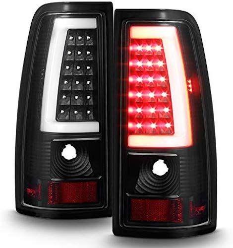 For 99 06 Gmc Sierra 99 02 Chevy Silverado Pick Up Truck Black Bezel Led Tube Tail Brake Lights Lamp In 2020 Gmc Sierra Led Tail Lights Gmc