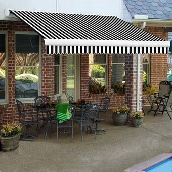 Luxury Series Electric Retractable Standard Woven Acrylic Patio Awning In 2020 Patio Awning Patio Pergola Patio