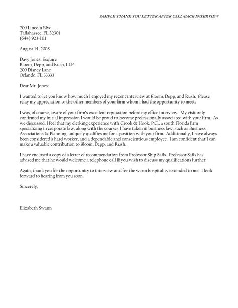 best post interview thank you letter sample cover templates after - thank you letter to professor