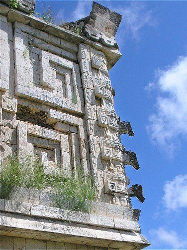 UXMAL: Mayan Ruins in Yucatan Mexico: photos and history.  Uxmal is a religious center honoring the Rain God.