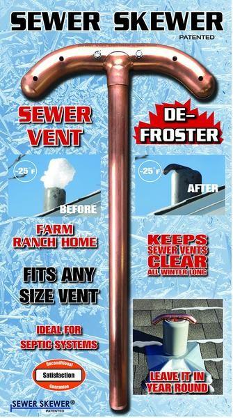 Sewer Skewer Sewer Vent Defroster Sewer Vented Froster