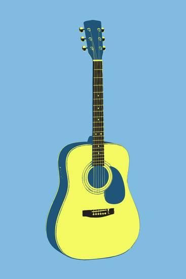 Acoustic Guitar Blue Music Poster Print Prints Allposters Com In 2021 Blues Music Poster Music Poster Blues Music