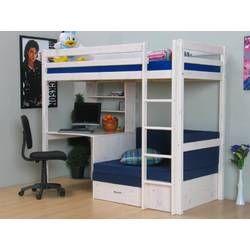 Hochbett Bush Mit Schragleiter 140 X 200 Cm Matratze Couch Hochbett Hochbett Mit Schreibtisch