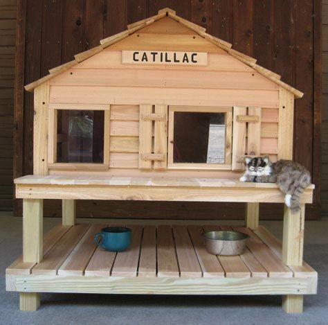 25 Best Ideas About Outdoor Cat Houses On Pinterest Insulated Dog House Plans Pdf How To Build A Doghouse Out Of Pallets Katt Hus Katthus Kattmobler