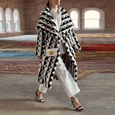 Fashion Long-Sleeved Print Coat – Beautyniki