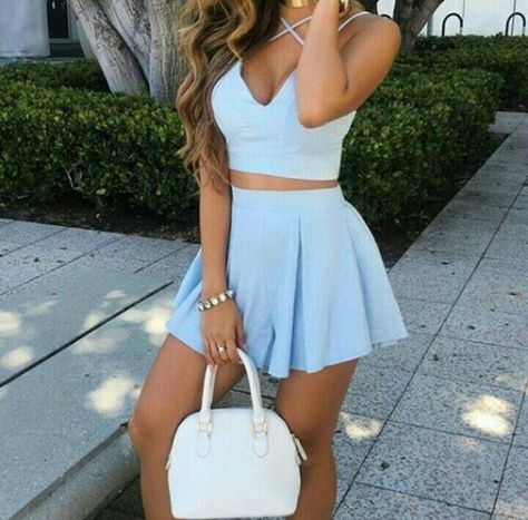 Dress liane v blue dress two piece dress set summer dress two-piece mini skirt