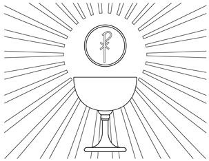 Body and blood of christ coloring pages murderthestout for Catholic mass coloring pages