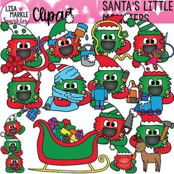 Happy Monster Christmas Elf Clipart Happy Monster Monster Clipart Clip Art