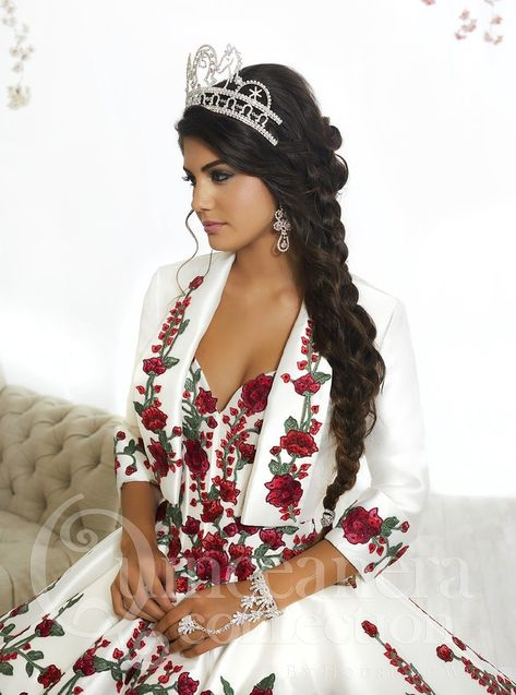 Rose Charro Quinceanera Dress by House of Wu 26892-House of Wu-ABC Fashion