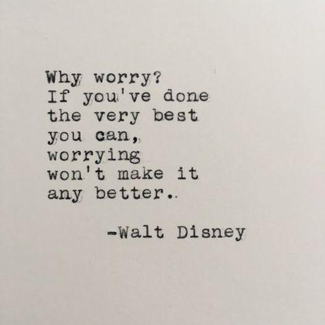 Walt Disney Quote Typed on Typewriter