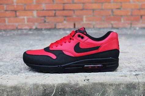 Nike Air Max 1 Leather Premium Gym RedBlack