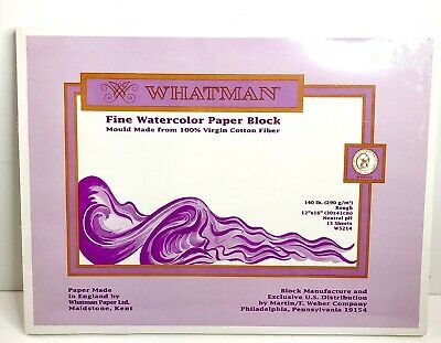 Whatman Fine Watercolor Paper Block 12 Inx16 In 140lb Virgin