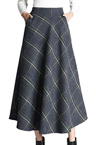 low priced f9ed5 a19e0 Scothen Fashion Womens Midi Gefaltete Röcke High Taille ...