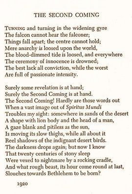yeats the second coming essay